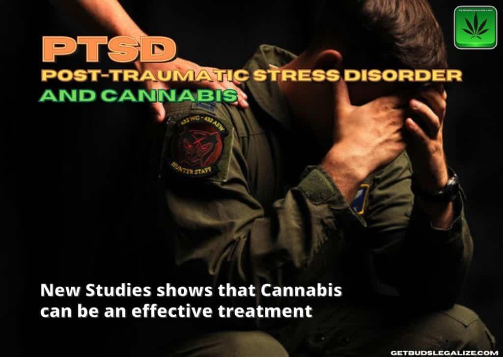 Post-traumatic stress disorder with new research using cannabis, PTSD, marijuana, weed, pot, medical