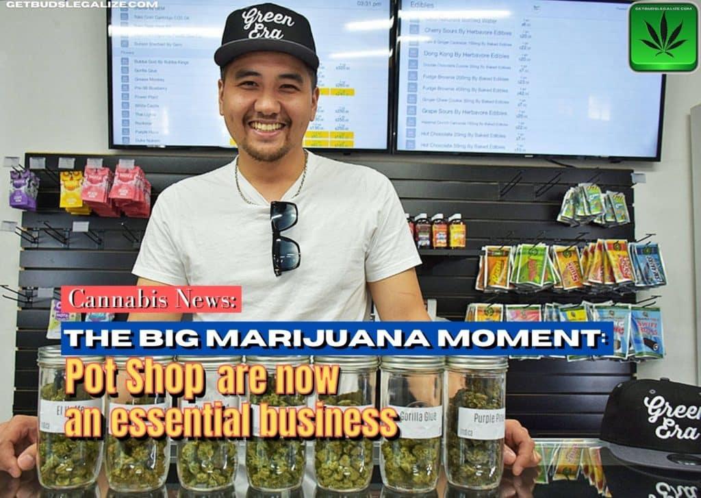 Pot shop is now an essential business, marijuana, weed, shop, cannabis