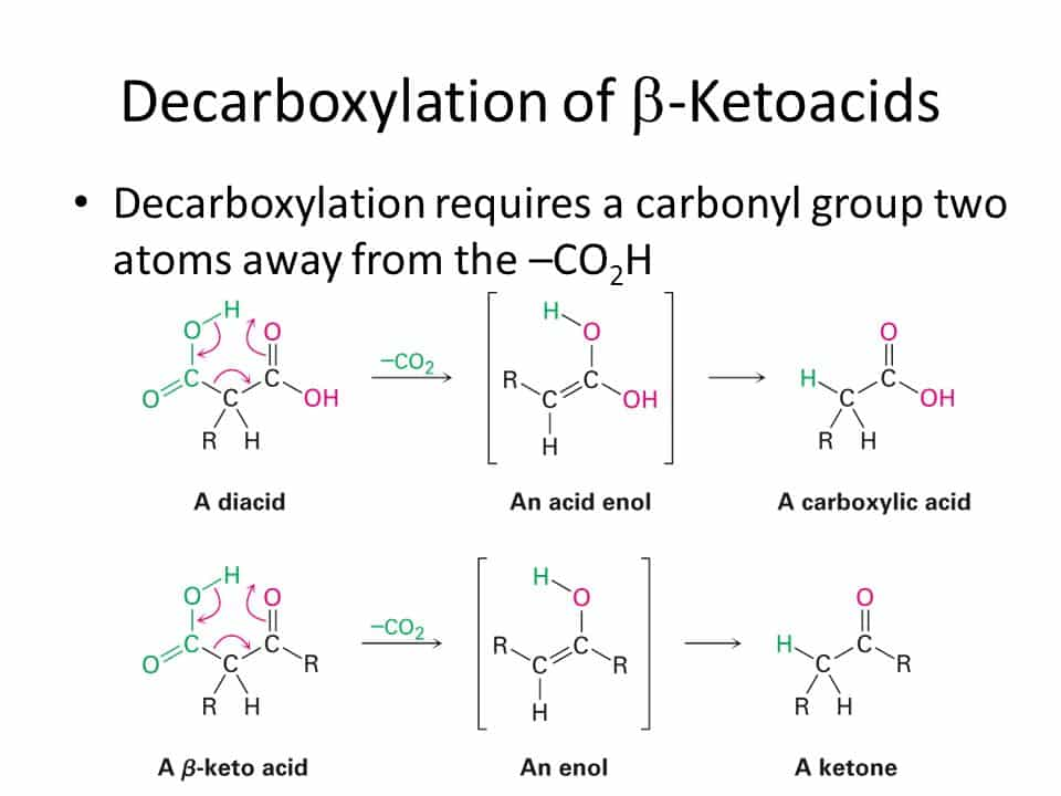 The mechanisms of decarboxylation