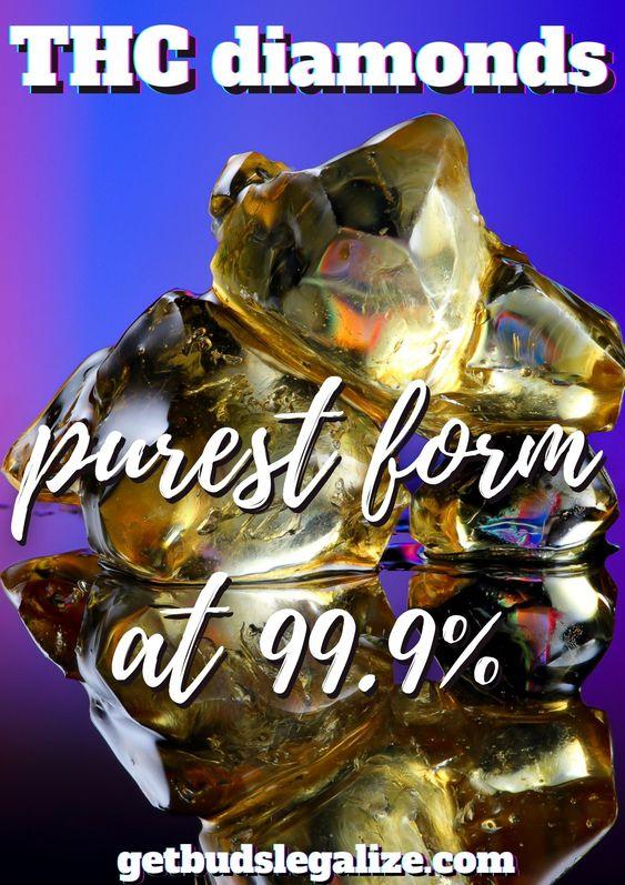 THC diamonds, purest form at 99.9%